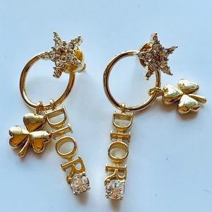 Authentic Christian Dior Clover🍀Star⭐️Earrings